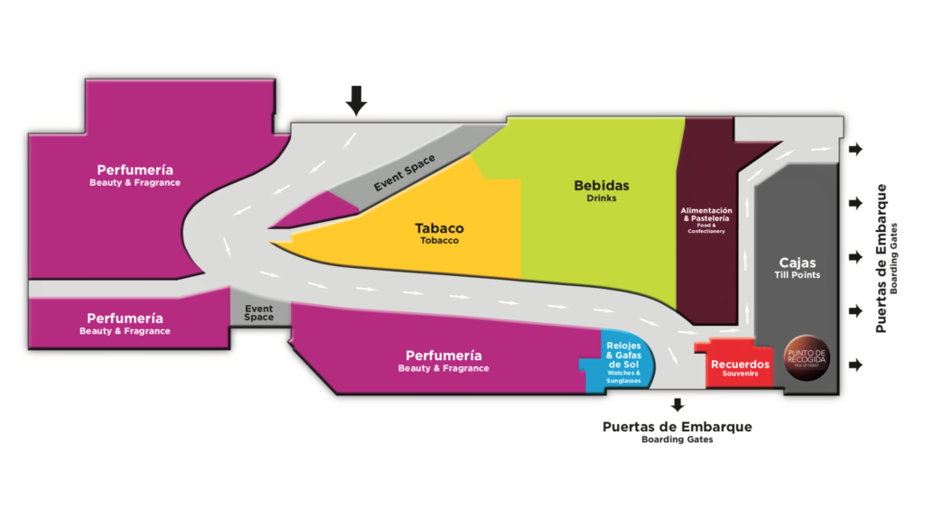 Duty Free Gran Canaria Airport Map