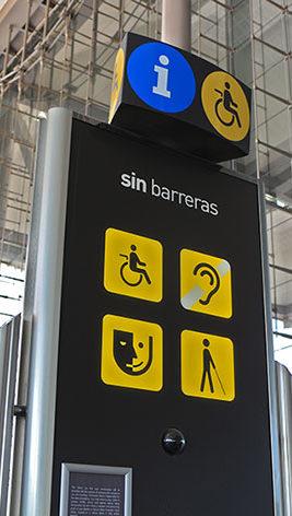 sin barreras at Las Palmas Gran Canaria airport