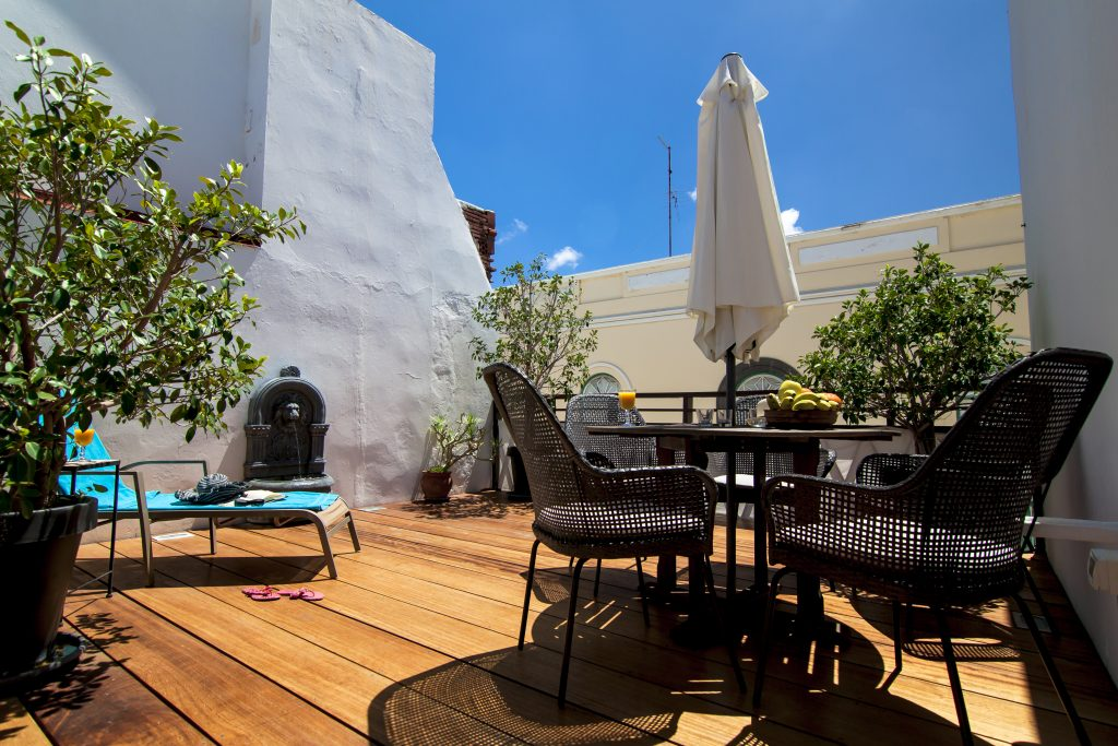 Roof terrace at Boutique rooms
