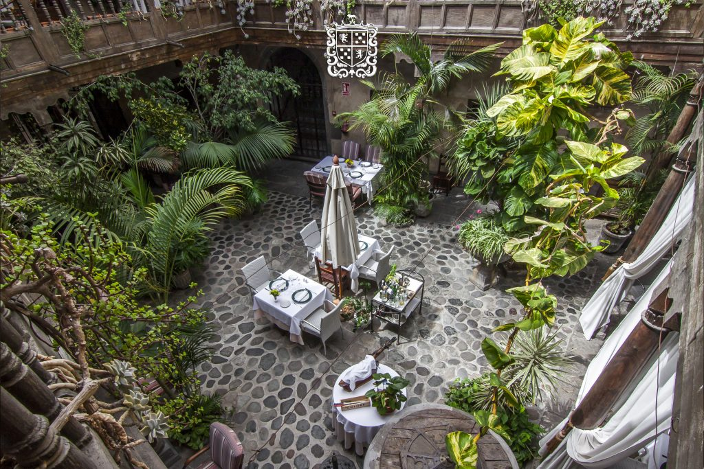 Tropical courtyard